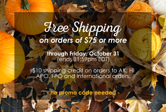 Free Shipping on orders $75 or more through October 31, 2014