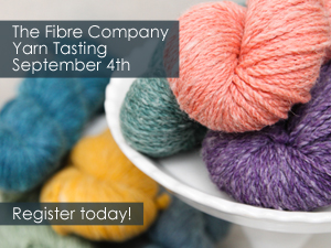 The Fibre Company Yarn Tasting at WEBS September 4th