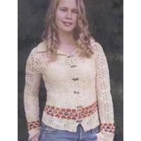 I105 Circle Lace Sweater