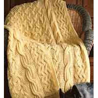111LC Reversible Cabled Afghan