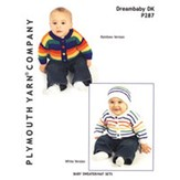Plymouth Yarn P287 Baby Sweater/Hat Sets