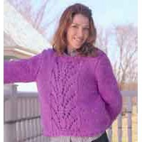 82332 Pullover With Lace Panel