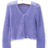 Knit One Crochet Too 1526 Purple Lace Cardigan