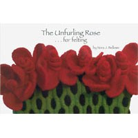 203 The Unfurling Rose for Felting