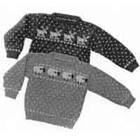1 Child's Sheep & Reindeer Sweaters
