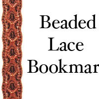 A56 Beaded Lace Bookmark