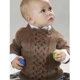 136 Murano Lace Baby Pullover (Free)