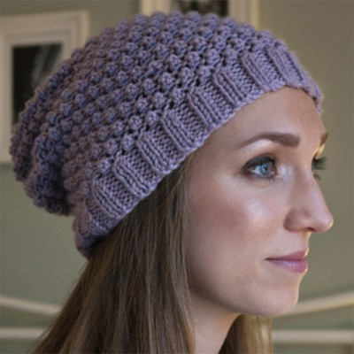 Knitted Hat Patterns For Alpaca Yarn : Debbie Bliss Blackberry Beanie (Free) at WEBS Yarn.com
