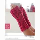 Blue Sky Fibers One Cable Mitts (Free)
