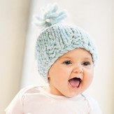 Blue Sky Fibers Bulky Baby Hat