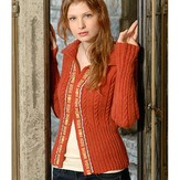 Blue Sky Fibers Ribbon Trim Cardigan