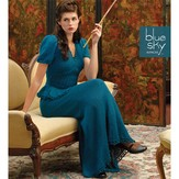 Blue Sky Fibers 1940's Inspired Gown