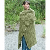 Cascade Yarns C224 Eco+ Quilt and Cable Blanket (Free)