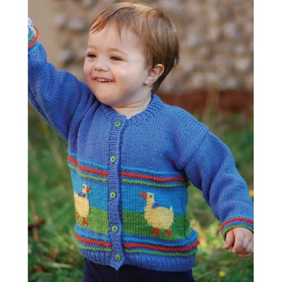 Children s Cardigan Knitting Patterns : Cascade Yarns W187 220 Superwash Duck Cardigan (Free) at WEBS Yarn.com