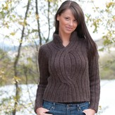 Cascade Yarns W354 Cable Pullover (Free)