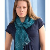 S.Charles Collezione Blue Sapphire Woven Scarf (Free)