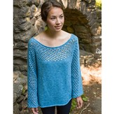 Classic Elite Yarns Mesh Panel Pullover (Free)