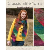 Classic Elite Yarns 9198 Striped Short Row Scarf PDF
