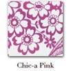 Chic.a Clear Front Zipper Pouches - Small - Pink