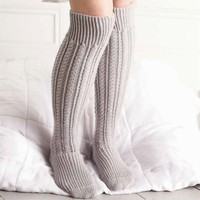 Over-Knee Cabled Socks PDF