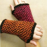 Lisa Ellis Designs Twined Fingerless Gloves