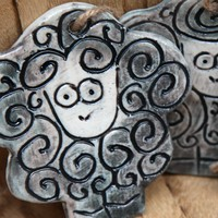 Porcelain Sheep Ornaments