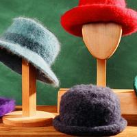 Warm Knitted Felted Hats - 3 Brim Styles