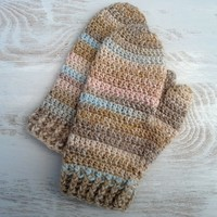 Crochet Mittens to Fit