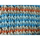Tunisian Crochet Reversible Pillow