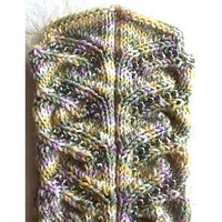 Beaded Swirls Socks PDF