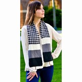 Jojoland Double Twist Check Scarf PDF