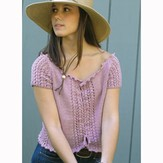 Knit One Crochet Too 1894 Ellie Mae Top