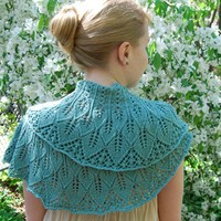 Cotton Bam Boo Kudzu Shawlette Kit (Free Pattern)