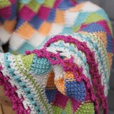 Valley Yarns 404 Playing Blocks Baby Blanket Kit