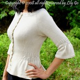Lily Go Simple Cable Cardigan PDF