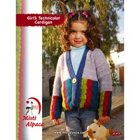 1076 Girl's Technicolor Cardigan PDF
