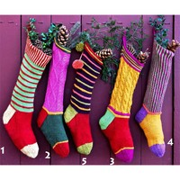 Colorful Christmas Stockings PDF