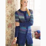 Noro Faux Cables Long Cardi PDF
