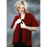 Plymouth Yarn 1708 Short Sleeved Garter Stitch Kimono