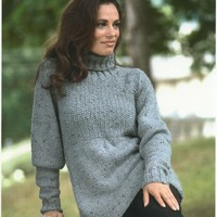 1948 Encore Chunky Tweed Woman's Babydoll Pullover
