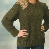 Plymouth Yarn 1949 Encore Chunky Tweed Unisex Diamond Pullover