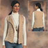 Plymouth Yarn 2076 Woman's Side to Side Vest