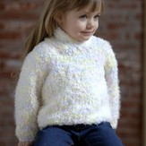 Plymouth Yarn 2581 Child's Shawl Collar Pullover (Heaven)