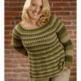 Plymouth Yarn 2615 Woman's Ribbed Yoke Pullover (Pasea)