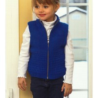 2718 Kid's Zippered Guernsey Vest