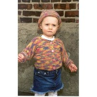 P283 One-Piece Baby Sweater with Matching Hat