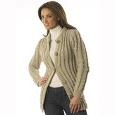 Plymouth Yarn P604 Cabled Sweater Jacket