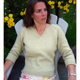 Knitting Pure & Simple 257 Split Neck T-shirt For Women