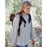 Knitting Pure & Simple 9724 Neck Down Pullover For Women
