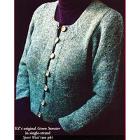 #13 Elizabeth Zimmermann's Green Sweater